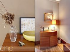 In love with that lamp and the yellow Russel Wright dish.