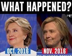 Actually I almost feel bad for her, but that's just after loosing the election. Can you imagine what 4 years as POTUS would have done. Stupid People, We The People, Truth Hurts, It Hurts, Obama Clinton, Are You Serious, Liberal Hypocrisy, Politics Today, Make The Right Choice