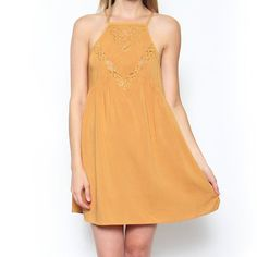 Marigold Sundress with Lace Insets