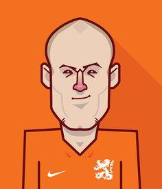 Dutch World Cup star Arjen Robben - World cup stars 2014 on Behance