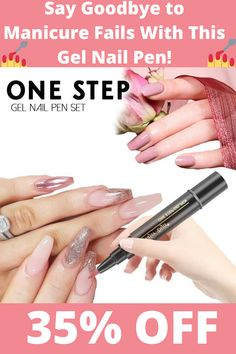Saviland One-step Gel Nail Pen Set Gel Manicure Nails, Manicure Colors, Gel Nail Colors, Nail Polish Hacks, Manicure Ideas, Gel Polish, Gel Nagel Design, Nagel Hacks, Nagellack Trends