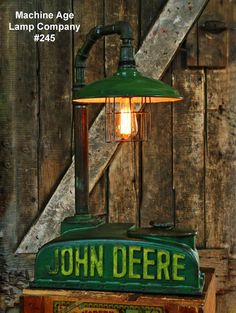 170 best john deere images on pinterest antique tractors tractor steampunk lamp industrial machine age tractor light loft john deere farm aloadofball Image collections