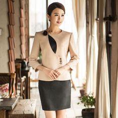 Uniform Design for Office Work Spa Uniform, Hotel Uniform, Uniform Dress, Corporate Uniforms, Corporate Wear, Office Uniform For Women, Restaurant Uniforms, Womens Dress Suits, Uniform Design