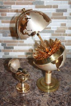 Mid Century Modern World Globe Cigarette Holder W/ Matching Globe Lighter 1930s by patwatty on Etsy
