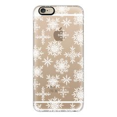 iPhone 6 Plus/6/5/5s/5c Case - Snowflakes ($40) ❤ liked on Polyvore featuring accessories, tech accessories, iphone case, iphone cover case and apple iphone cases