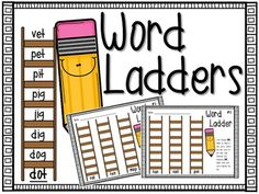 Do you have students who always finish their work early? Are they itching for something to do- and you need it to be productive? These word ladders serve as a GREAT early finisher activity.  There are 15 different word ladder sheets (three ladders to a page).