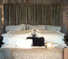 Headboard placement with reclaimed hand-split cedar wall Cedar Walls, Shag Rug, Curtains, Rustic, Rugs, Home Decor, Shaggy Rug, Country Primitive, Farmhouse Rugs