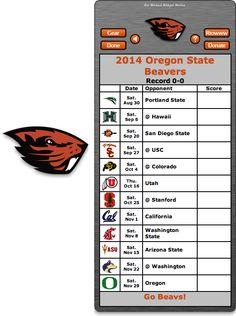 Free 2014 Oregon State Beavers Football Schedule Widget for Mac OS X - Go Beavs!  http://riowww.com/teamPages/Oregon_State_Beavers.htm