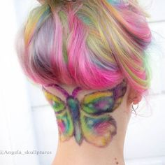 Butterfly undercut. #colorfulhair #hairart #hairdare