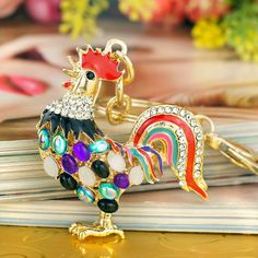 FORTUNE ROOSTER KEYCHAINS @ Size: 5.3 x 5.0cm