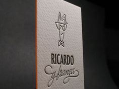 Letterpress Business Card with Avatar