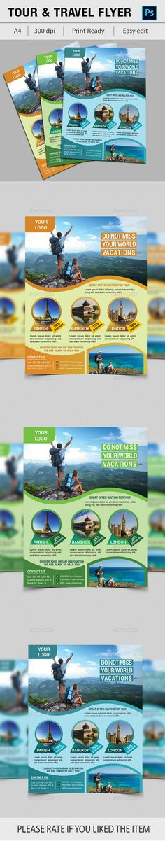 Travel Tours Flyer Template - Holidays Events