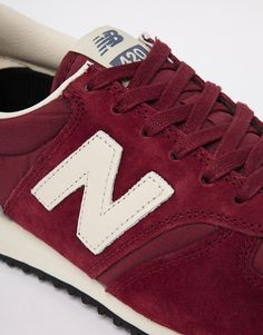 New Balance | New Balance 420 Burgundy Suede Trainers at ASOS