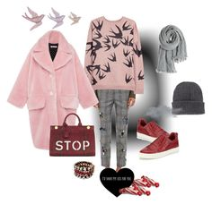 """""""Friday! Come fly with me"""" by juliabachmann ❤ liked on Polyvore featuring Linea, Mira Mikati, McQ by Alexander McQueen, MANGO, Moncler, Ash, VIVETTA, Anya Hindmarch and Calypso St. Barth"""