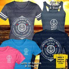 Proud Navy Mom Shirts - My Son My Hero My Sailor Shirts designed by NavyMomShirts.com
