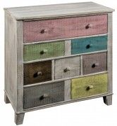 8 Drawer Wooden Cabinet Multicoloured