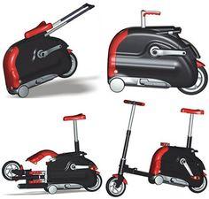 Suitcase looking folding bike!