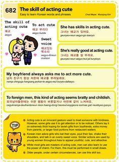 Easy to Learn Korean 682 – Gwiyomi lyrics, Gwiyomi Player, and Acting Cute. Korean Letters, Korean Alphabet, Korean Words Learning, Korean Language Learning, How To Speak Korean, Learn Korean, Korean Expressions, Learn Hangul, Korean Writing