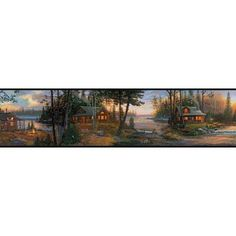 . Cabin Fever Wallpaper Border - Lake Forest Lodge Collection