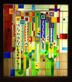 Frank Lloyd Wright Stained Glass   ... Phoenix Biltmore Frank Lloyd Wright Stained glass AWI Convention 2102