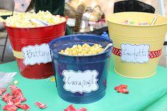 Carnival Party Time - popcorn bins