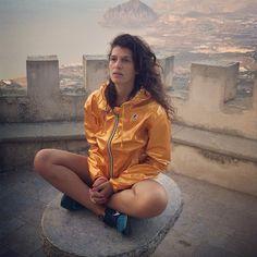 Instagram photo by @tittipan (Stefania Panetta) | Iconosquare Raincoat Jacket, Yellow Raincoat, Rain Jacket Women, Rain Wear, Sportswear, Windbreaker, Metallic, How To Wear, Fans