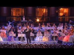 """Andre Rieu & he Johann Strauss Orchestra perform """"The Beautiful Blue Danube"""" by composer Johan Strauss, II."""