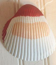 santa shell ornament