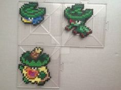 #270-#272 Lotad Family Perlers by TehMorrison