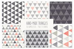 FREE DOWNLOAD! Triangles. Seamless Patterns. Set 4 by Curly_Pat on Creative Market