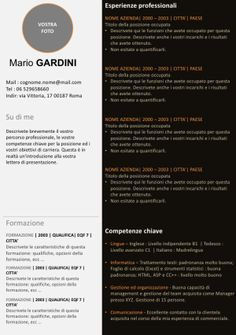 Esempio di CV Office   Curriculum Vitae Europeo
