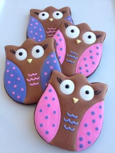 1 Dozen Owl Cookies by SugaredHeartsBakery on Etsy, $36.00