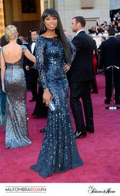 Jennifer Hudson -Roberto Cavalli- El Palacio de Hierro #Oscars 2013 #AlfombraRojaPH