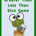 Fun Frog Math! Greater Than and Less Than Dice Game {FREEBIE-TpT}