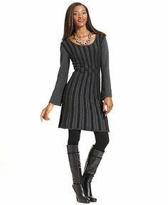 Style Petite Sweater, Long-Sleeve Ribbed Sweater Dress - Womens Petite Dresses - Macy's
