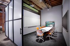 LPA's San Diego Conference Room with the latest digital conferencing (and Milliken's Tessellate floor covering!).