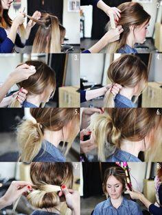 455029e3a670 How to Style a Gorgeous Low Bun Bun Hairstyles