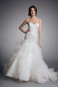 eve of milady couture bridal 2014 strapless wedding dress style 4320