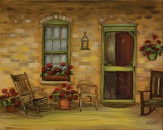 A Summer Day is a painting by Rosmary Schmucker. Rosemary is an Amish lady who lives near Middlebury, Indiana.