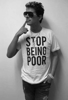 Milo Yiannopoulos. He's right, of course. Poverty is a mindset - at least here in America - much more than it's a real oppressive state. You need to rise above that mindset before you can rise above your status.