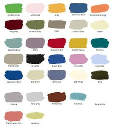 Annie Sloan Chalk Paint Colors:: Mix and Match to make your own perfect color!