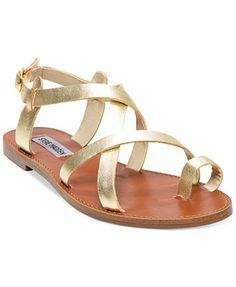 Get the must-have sandals of this season! These Steve Madden Gold Agathist Gladiator Sandals Size US Regular (M, B) are a top 10 member favorite on Tradesy. Cute Sandals, Gold Sandals, Flat Sandals, Cute Shoes, Leather Sandals, Me Too Shoes, Shoes Sandals, Flats, Summer Sandals