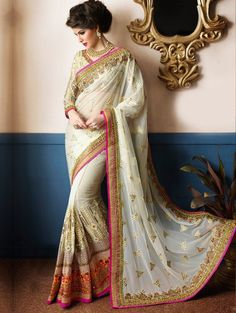 Indian Pakistani Bollywood Saree Wedding Party wear New Ethnic Designer Sari Latest Indian Saree, Indian Sarees Online, Indian Dresses, Indian Outfits, Indische Sarees, Bridal Sarees Online, Party Kleidung, Sari Design, Indian Designer Sarees