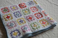 Another pretty granny.  Ravelry: melizabeth's Fresh garden blanket