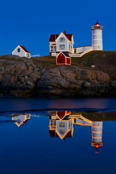 Love this place!  Nubble Light in Maine.