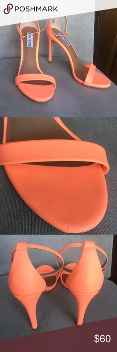 Steve Madden hot coral strapped heels Steve Madden strappy hot coral heels. New and never worn. New without tags Steve Madden Shoes Heels