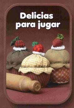 FELTRO MOLDES ARTESANATO EM GERAL: foto tutorial cupcake