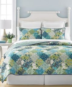 Martha Stewart Collection Antique Patchwork Artichoke Full/Queen Quilt, Only at Macy's  | macys.com