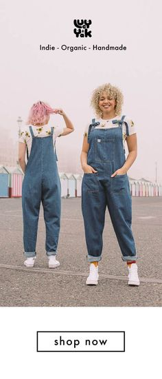 Atlas - Denim and Heavy Twill Dungarees Quirky Fashion, Tomboy Fashion, Diva Fashion, Colorful Fashion, Pop Fashion, Denim Fashion, Fashion Brand, Womens Dungarees, Denim Dungarees