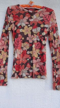 Sweet Pea Knit Top Misses L Coral Orange Yellow Stacy Frati Project Runway USA   Clothing, Shoes & Accessories, Women's Clothing, Tops & Blouses   eBay!
